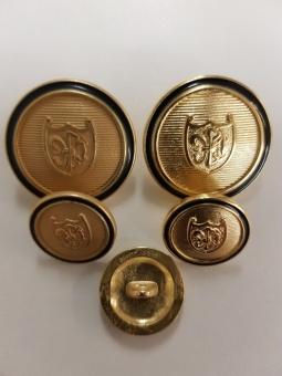 Metallknopf mit Wappenmotiv