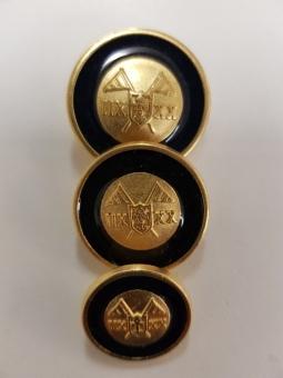 Metallknopf mit Wappenmotiv,glänzend