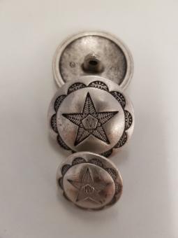 Metallknopf, rund